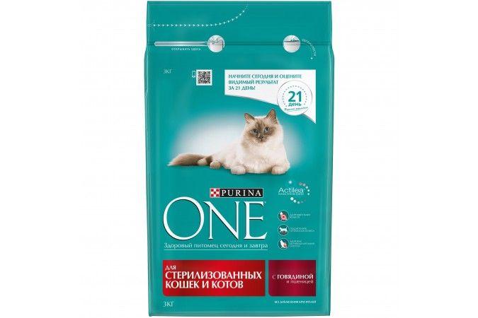 ВАН для стерилизованных кошек говядина/пшеница 3 кг 1/4