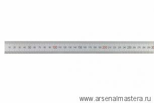 Линейка стальная 500х30х1 мм, цветная шкала 0,5 мм Kinex 1022-02-050