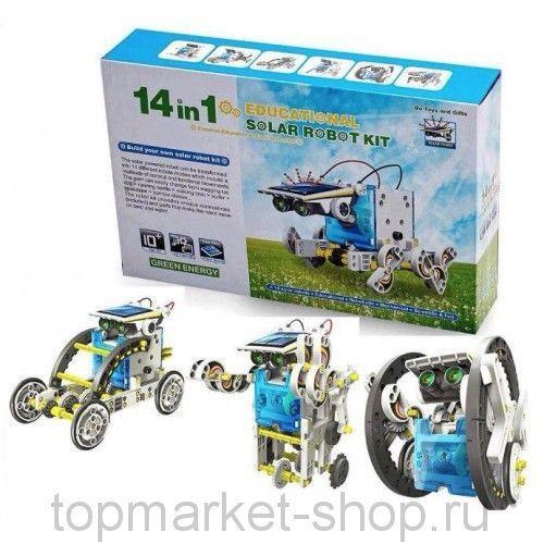 Конструктор На Солнечной Батарее Solar Robot 14-In-1