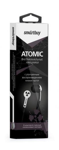 Наушники вакуумные SmartBuy® ATOMIC, белые