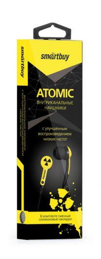 Наушники вакуумные SmartBuy® ATOMIC, желтые