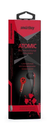 Наушники вакуумные SmartBuy® ATOMIC, красные