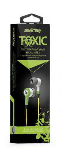 Наушники вакуумные SmartBuy® TOXIC зеленые