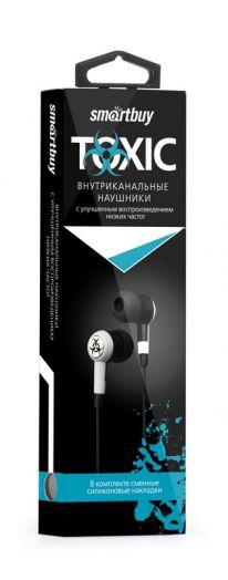 Наушники вакуумные SmartBuy® TOXIC черн/белые