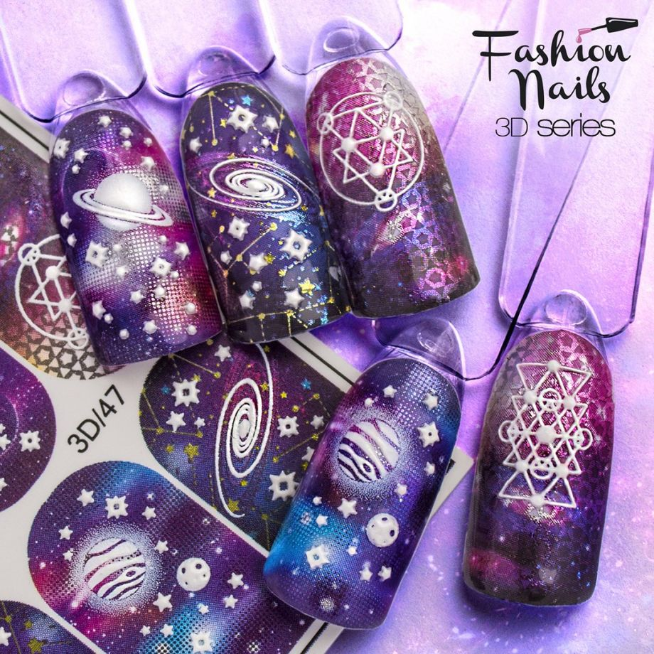 3D слайдер дизайн Fashion Nails #47
