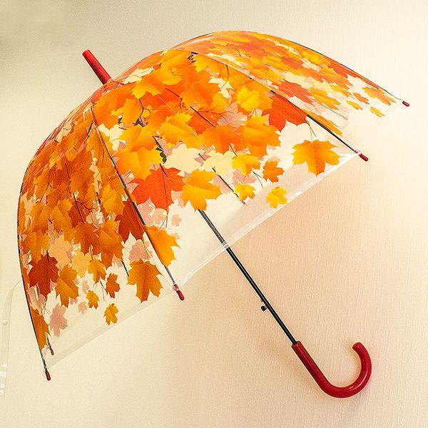 Зонт Листья красные