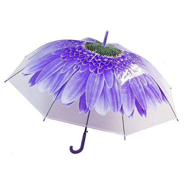 Зонт купол Цветок большой синий