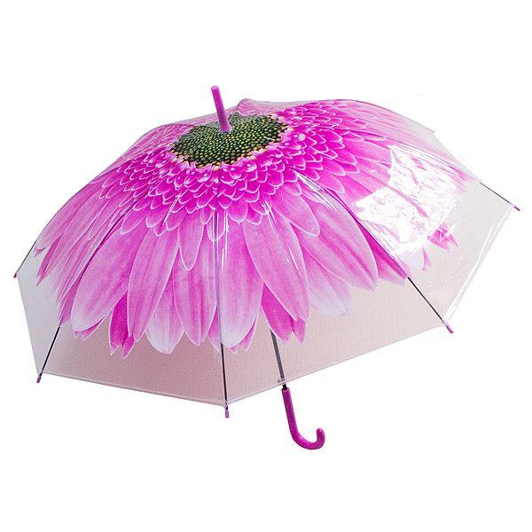 Зонт купол Цветок большой розовый