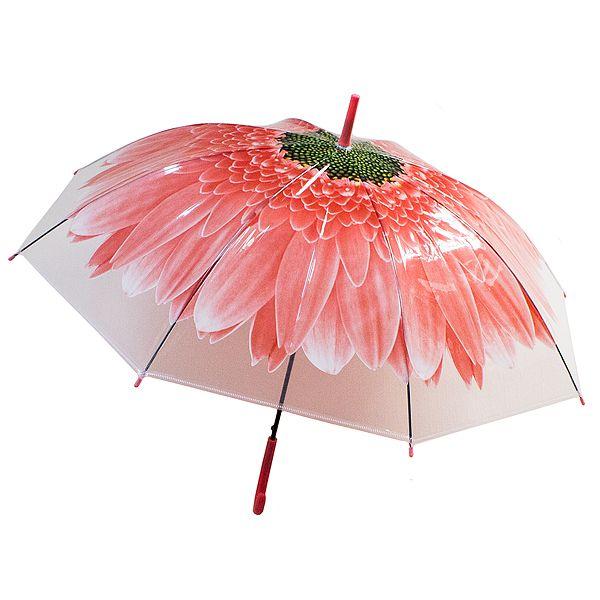 Зонт купол Цветок большой красный