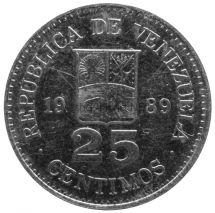 Венесуэла 25 сентимо 1989 г.