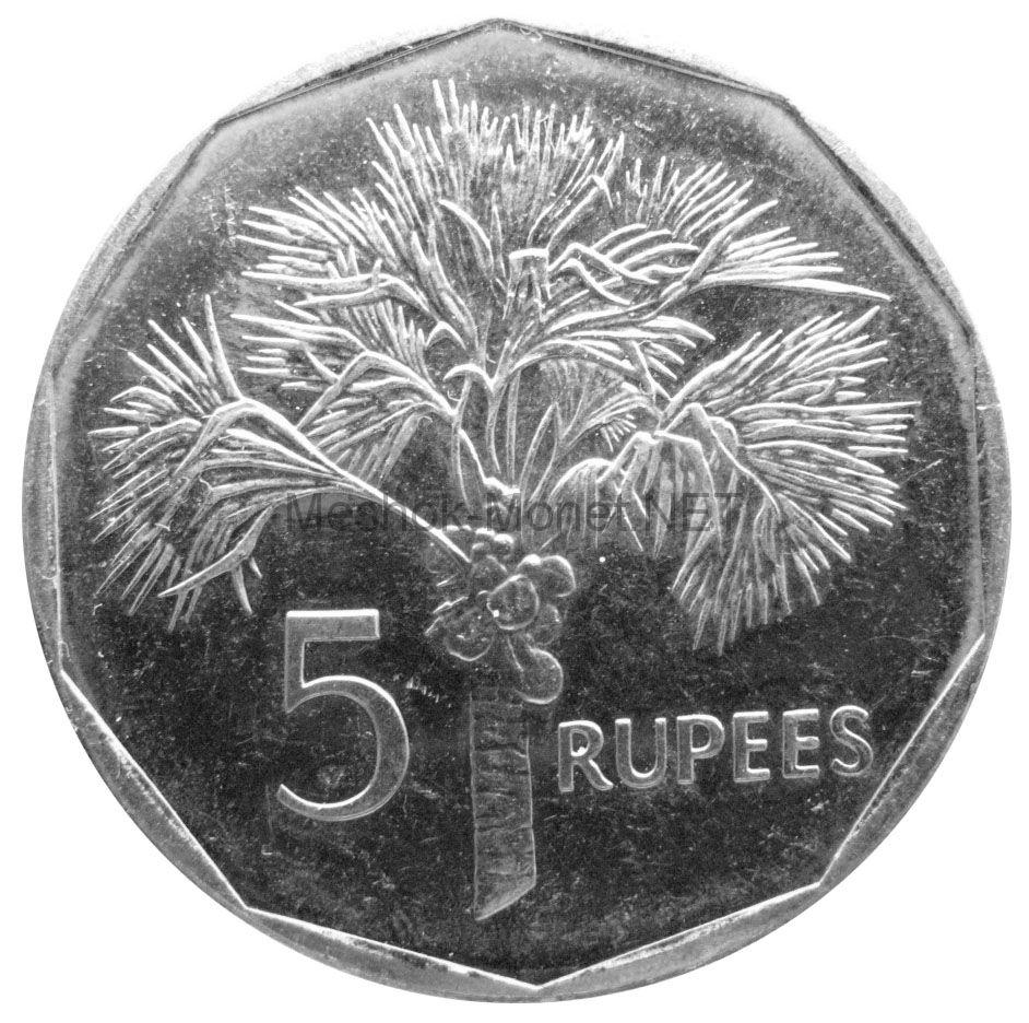 Сейшелы 5 рупий 2010 г.