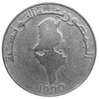Тунис 1 динар 1990 г.