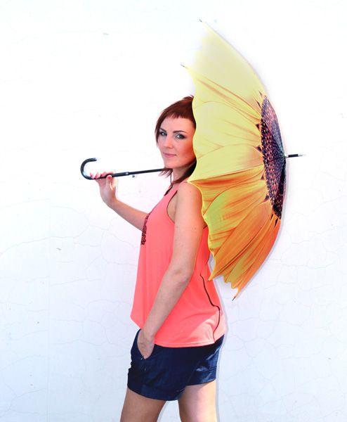 Зонт Подсолнух трость