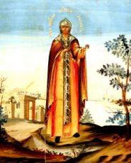 Икона Евдокия Илиопольская (копия старинной)