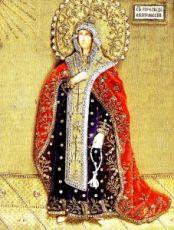 Икона Евпраксия Псковская (копия старинной)