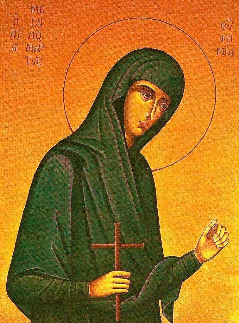 Икона Евфимия Всехвальная (копия старинной)