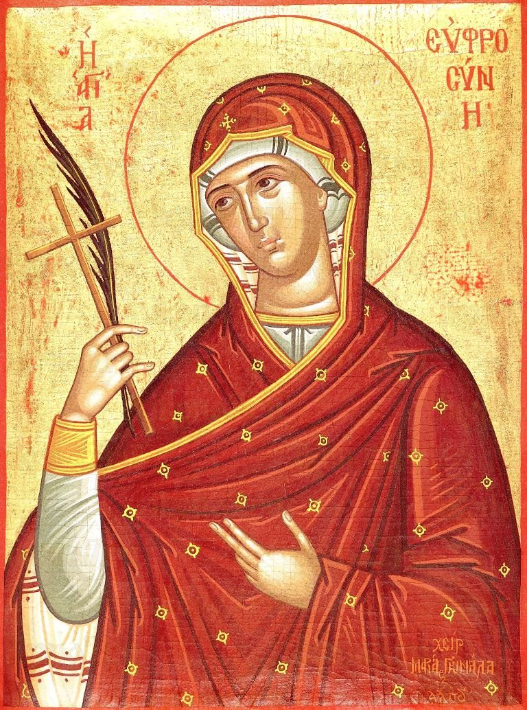Икона Евфросиния Александрийская (копия старинной)