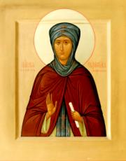 Евфросиния Московская (икона на дереве)