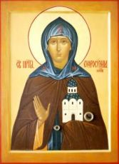 Евфросиния Московская (копия старинной иконы)