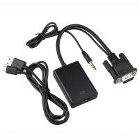 Адаптер VGA(m)-HDMI(f) c передачей аудио-сигнала и питанием