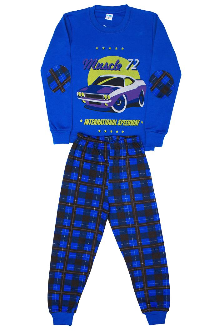 Синяя пижама для мальчика Авто