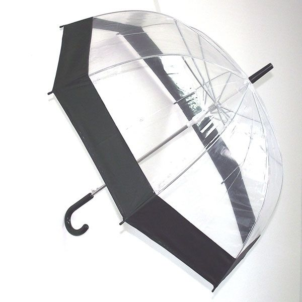Зонт прозрачный купол черный