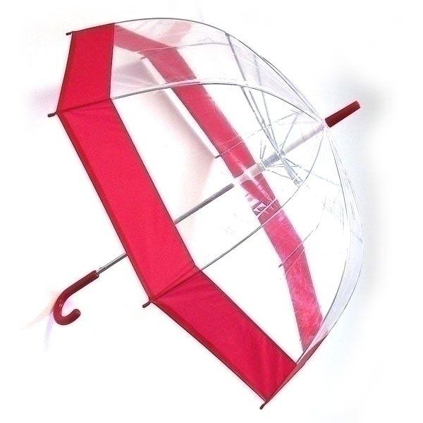 Зонт прозрачный купол красный