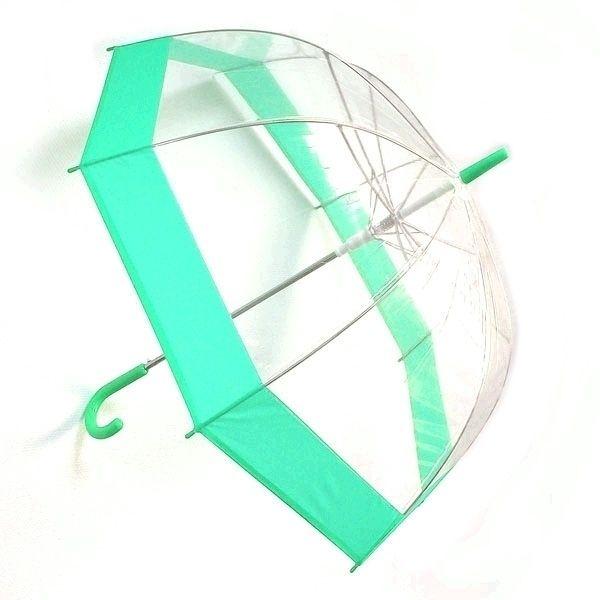 Зонт прозрачный купол зеленый