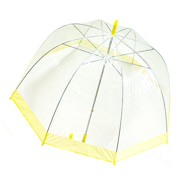Зонт прозрачный купол желтый