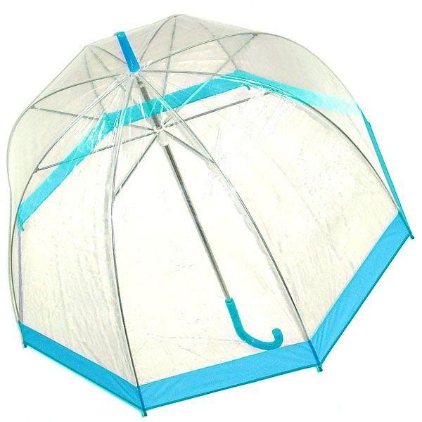 Зонт прозрачный купол голубой