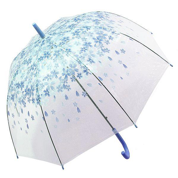 Зонт Цветы малый синие