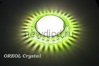 Точечный Светильник OREOL Crystal GX118-GR 123/80mm Под Лампу GХ53 H4 Зеленый
