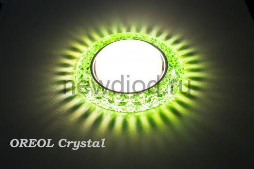 Светильник Точечный OREOL Crystal GX118-GR 123/80mm Под Лампу GХ53 H4 Зеленый