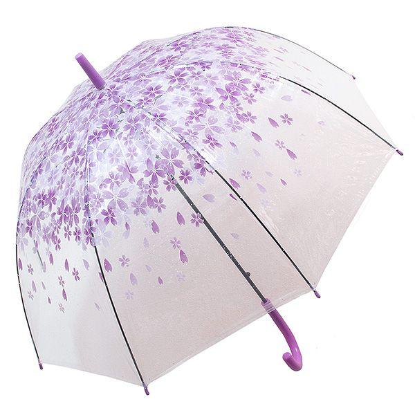 Зонт Цветы малый фиолетовые