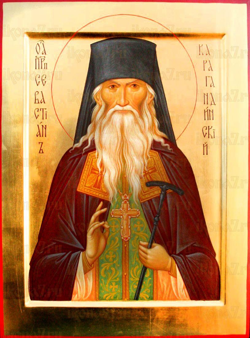 Севастьян Карагандинский (рукописная икона)