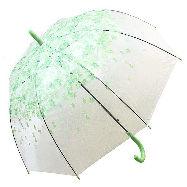 Зонт Цветы малый зеленые