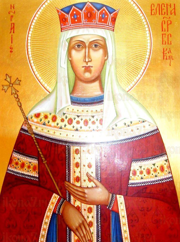 Елена Сербская (икона на дереве)