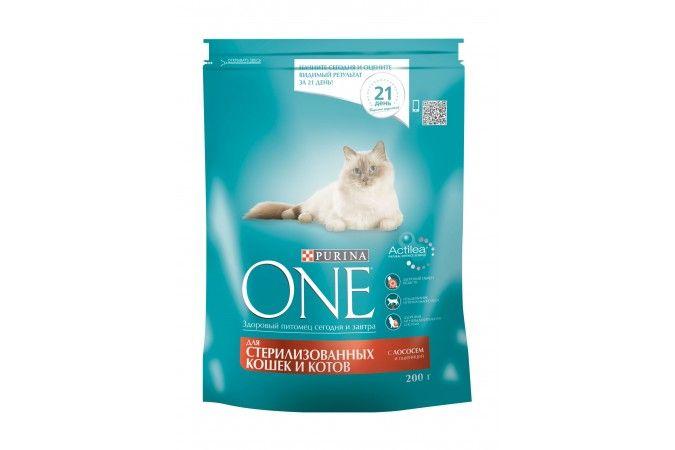 ВАН сухой корм  для кастрировнных котов и стерилизованных кошек лосось/тунец/пшеница  пак. 200г 1/10