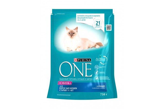 ВАН SENIOR11 сухой корм для кошек старше 11 лет курица/цельные злаки 750г 1/8