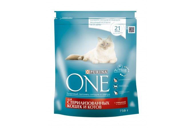 ВАН сухой корм  для стерилизованных кошек и котов говядина/пшеница  пак. 750г 1/8