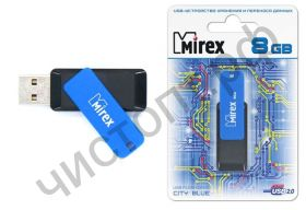 флэш-карта Mirex 8GB CITY синий (ecopack)