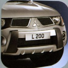 Накладка на передний бампер, Оригинал, а/м 2006-2009