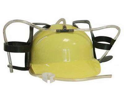 Каска с подставкой под банки Желтая
