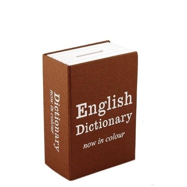 Книга сейф Английский словарь мини, коричневый