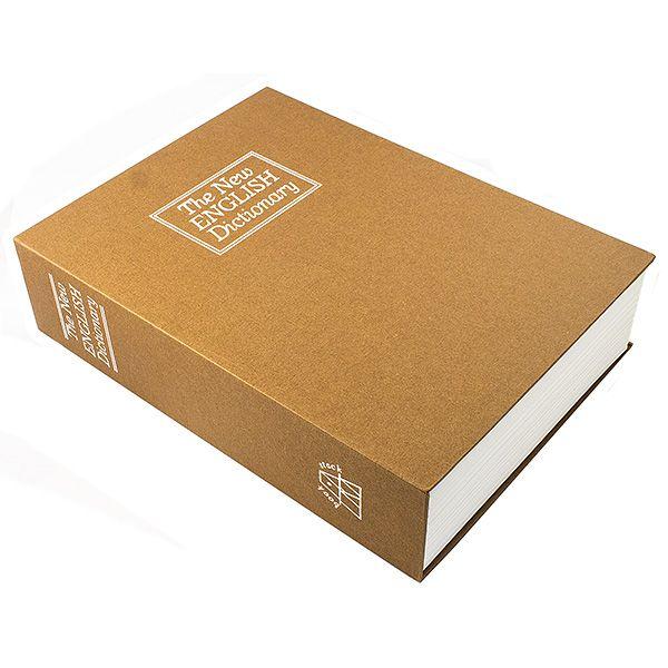 Книга сейф Английский словарь 26 см коричневый