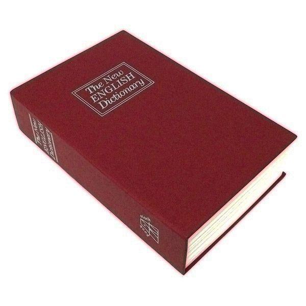 Книга сейф Английский словарь 24 см Бордовый