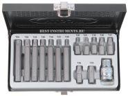 ABS-80007 Набор бит Torx Т20-Т55 Licota, 15 предметов.