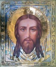 Спас Нерукотворный (42х49), серебро
