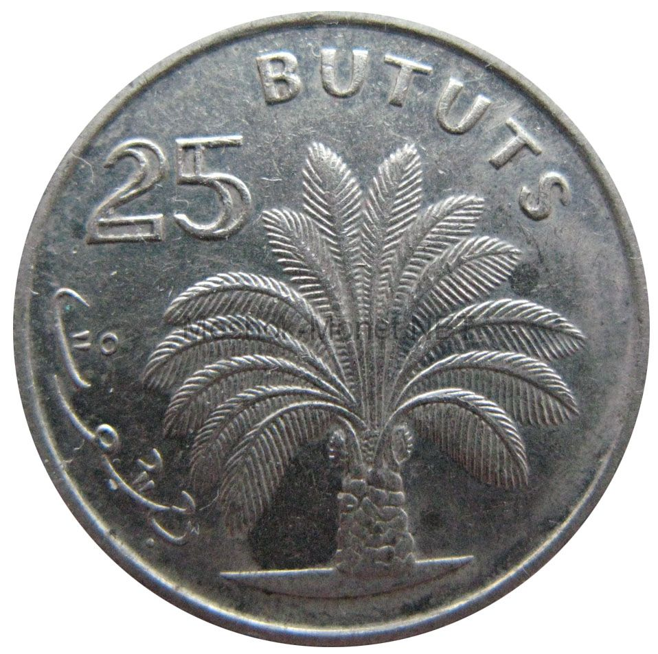Гамбия 25 бутут 1971 г.