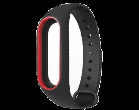 Ремешок для браслета Xiaomi Mi Band 2 черный с красным
